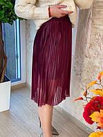 Женская  юбка, стильная, плиссе, 211-410-6