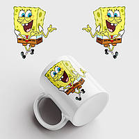 Кружка с принтом Губка Боб. Спанчбоб. Spongebob v3. Чашка с фото, фото 1