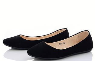 Мокасини жіночі лодочки літні, чорні (36,37 розмір)