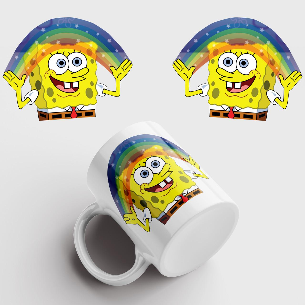 Кружка с принтом Губка Боб. Спанчбоб. Spongebob v8. Чашка с фото