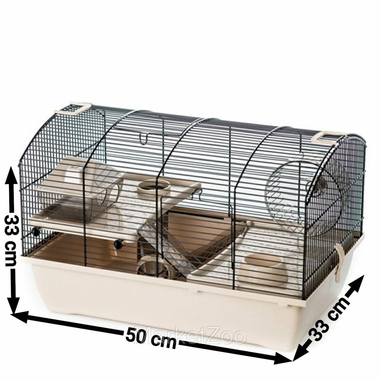 Клетка-домик для хомяка,крысы,белки дегу VICTOR 2 PLUS Inter Zoo G325 (500*330*330 мм)