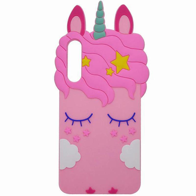 Силиконовая накладка 3D Little Unicorn для Samsung A750 Galaxy A7 (2018)
