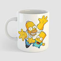 Кружка с принтом Симпсоны. Simpsons v5. Чашка с фото, фото 1