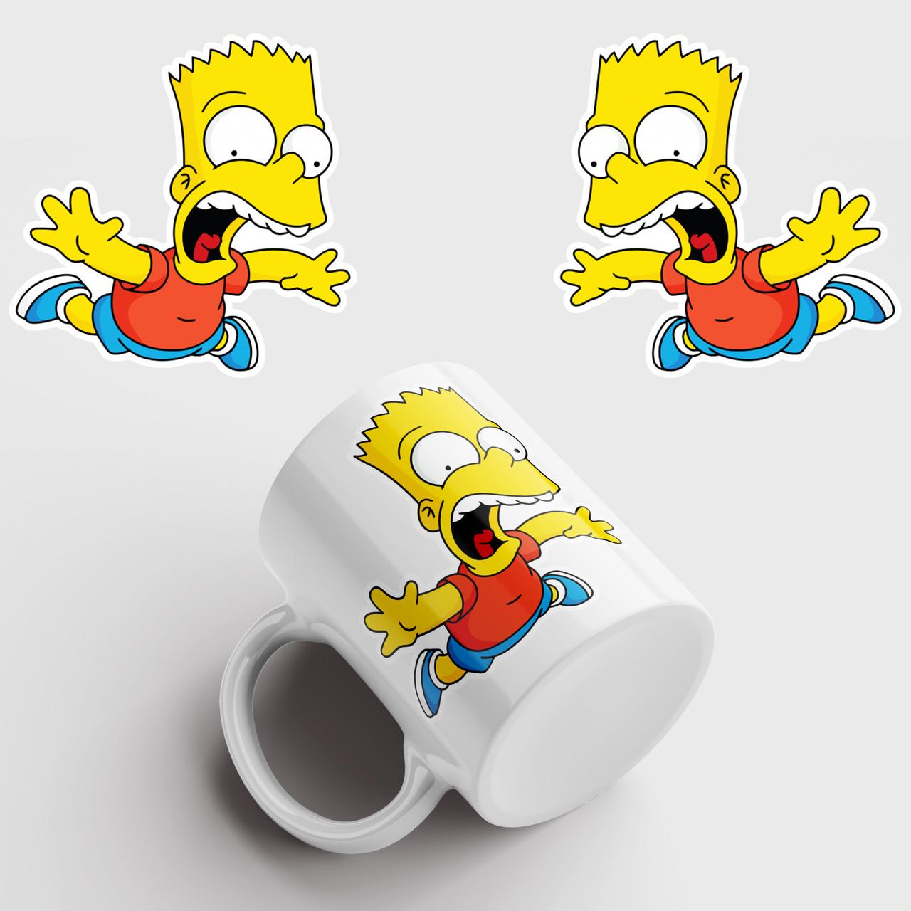Кружка с принтом Барт Симпсон. Bart Simpson. Чашка с фото