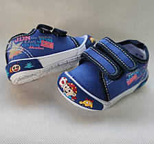 Детские кеды мокасины тапочки для мальчика голубые Super Gear 25р 15,5см, фото 3