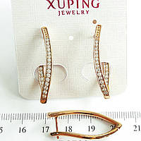 Серьги Xuping длина 3см медзолото позолота 18К с795