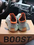 Чоловічі кросівки Adidas Yeezy Boost 350 V2 desert sage в стилі адідас ізі буст РЕФЛЕКТИВ (Репліка ААА+), фото 5