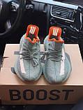 Чоловічі кросівки Adidas Yeezy Boost 350 V2 desert sage в стилі адідас ізі буст РЕФЛЕКТИВ (Репліка ААА+), фото 2