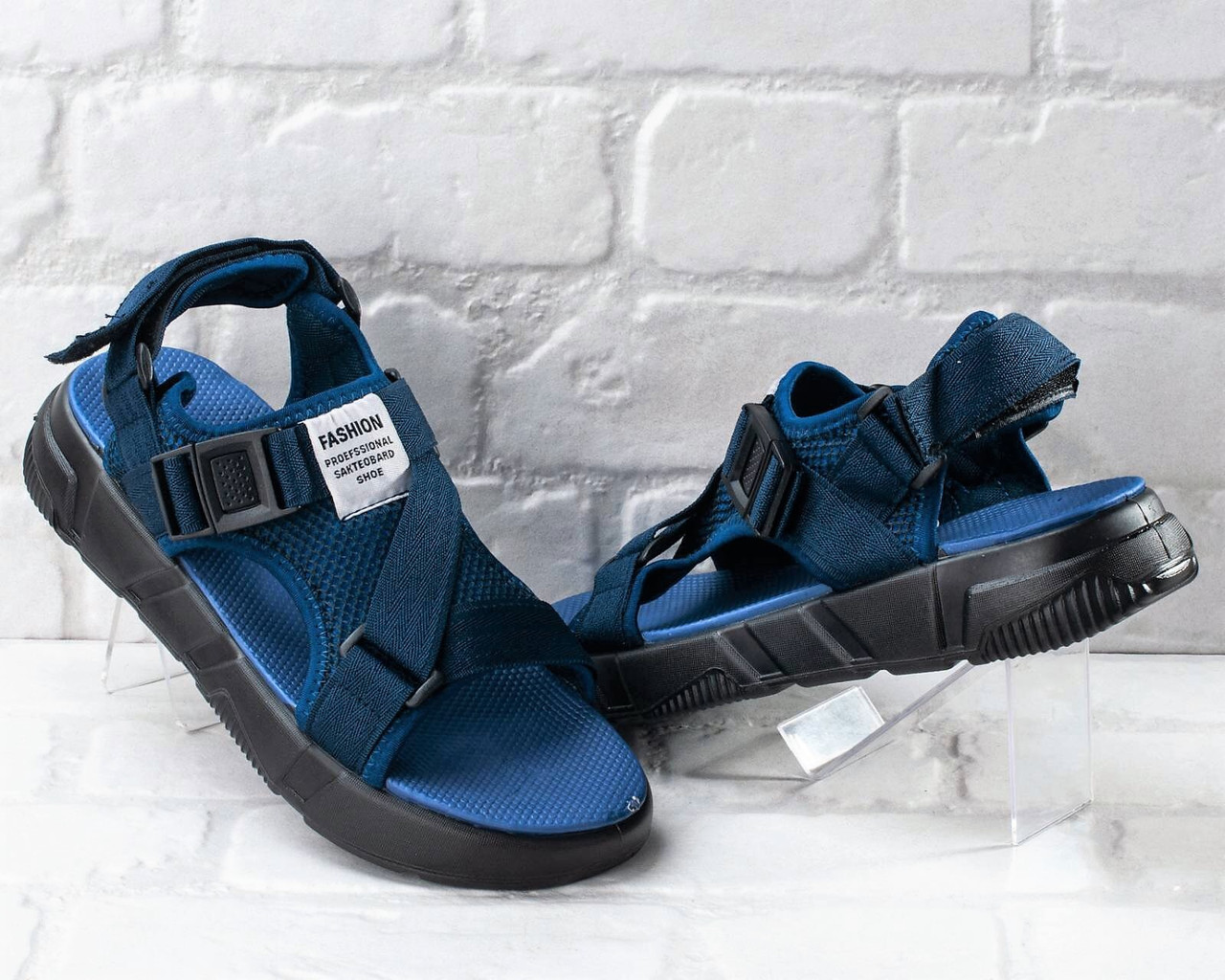 Сандалии босоножки мужские синие 40 размер