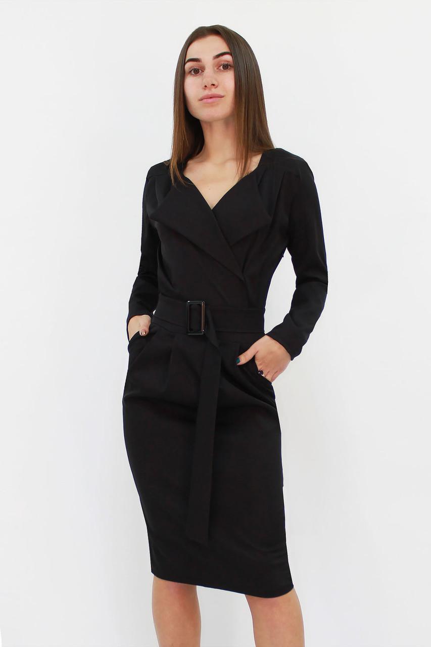 S, M, L, XL | Вишукане класичне жіноче плаття Mishell, чорний