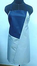Фартук непромакаемый поварской с нагрудником, длинный. Оксфорд-215 г/м2 .
