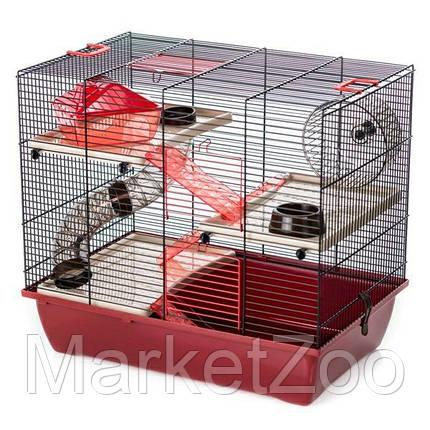 Клетка для хомяков с трубами PINKY 3 COLOR Inter Zoo G305 (500*330*445 мм), фото 2