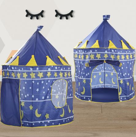 Игровая палатка. Палатка для детской комнаты. Складная палатка для детей. Игровой домик синий, фото 2
