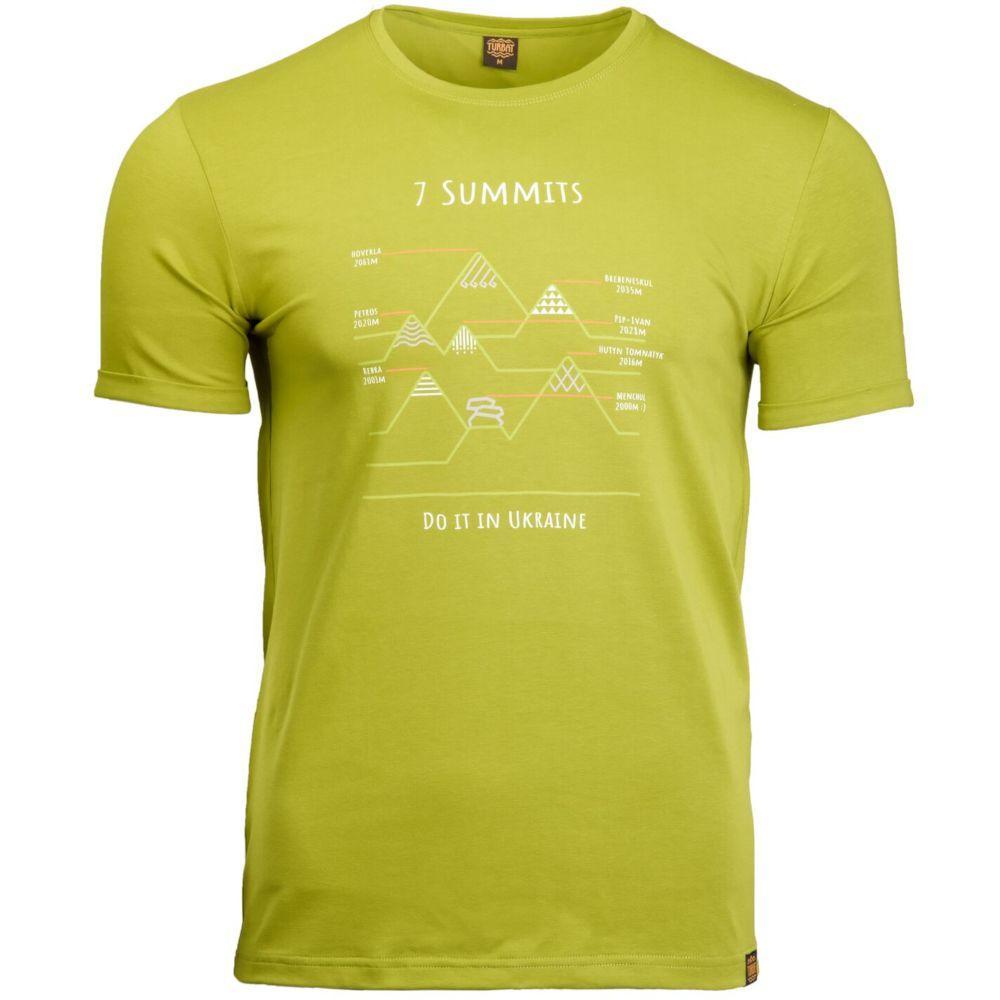Футболка чоловіча Turbat 7 SUMMITS XXL Green
