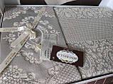 Жаккардовое турецкое покрывало с наволочками 240*260 Miss Bella Antik серый, фото 3