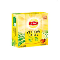 Чай Липтон 100 пакетиков Yellow Label чёрный