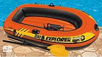 Лодка надувная двухместная Intex 58357 Explorer 200 Pro, до 120 кг