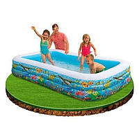 Детский надувной бассейн Intex 58485 «Тропический риф» (305*183*56 см)