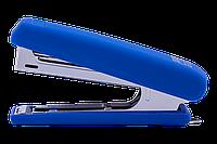Степлер пластиковый, RUBBER TOUCH, 12 л., (скобы №10),  синий BM.4128-02