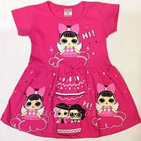 Трикотажное стильное платье  (2-3-4-5-6 лет)