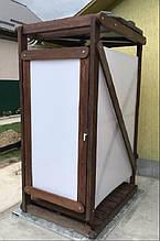 Летний душ дачный деревянный с поликарбонатом обработанный масло воском