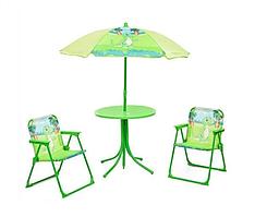 Столик детский с зонтиком и 2 мя стульчиками Bambi (Динозавр)