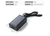 Зарядное устройство 36V литий-ионное 42V / 2A  для электро самокатов / гиробордов /сигвеев