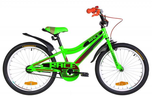 """Велосипед 20"""" Formula RACE 2020 (зелено-черный с красным (м)), фото 2"""