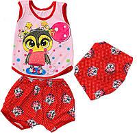 Летний костюм для девочки, 6месяцев - 18 месяцев