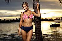Красивий жіночий роздільний купальник на велику груди в 2х кольорах Self S 940 G20