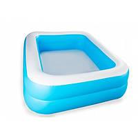 Детский надувной бассейн Bestway 54005 голубой 201 х 150 х 51 см, фото 1