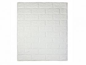 Самоклеюча декоративна 3D панель під білий цегла 700*770*7мм