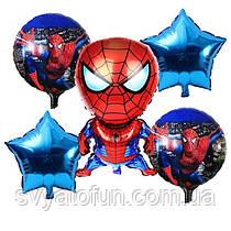 Набор фольгированных шаров Человек-паук 5шт Китай