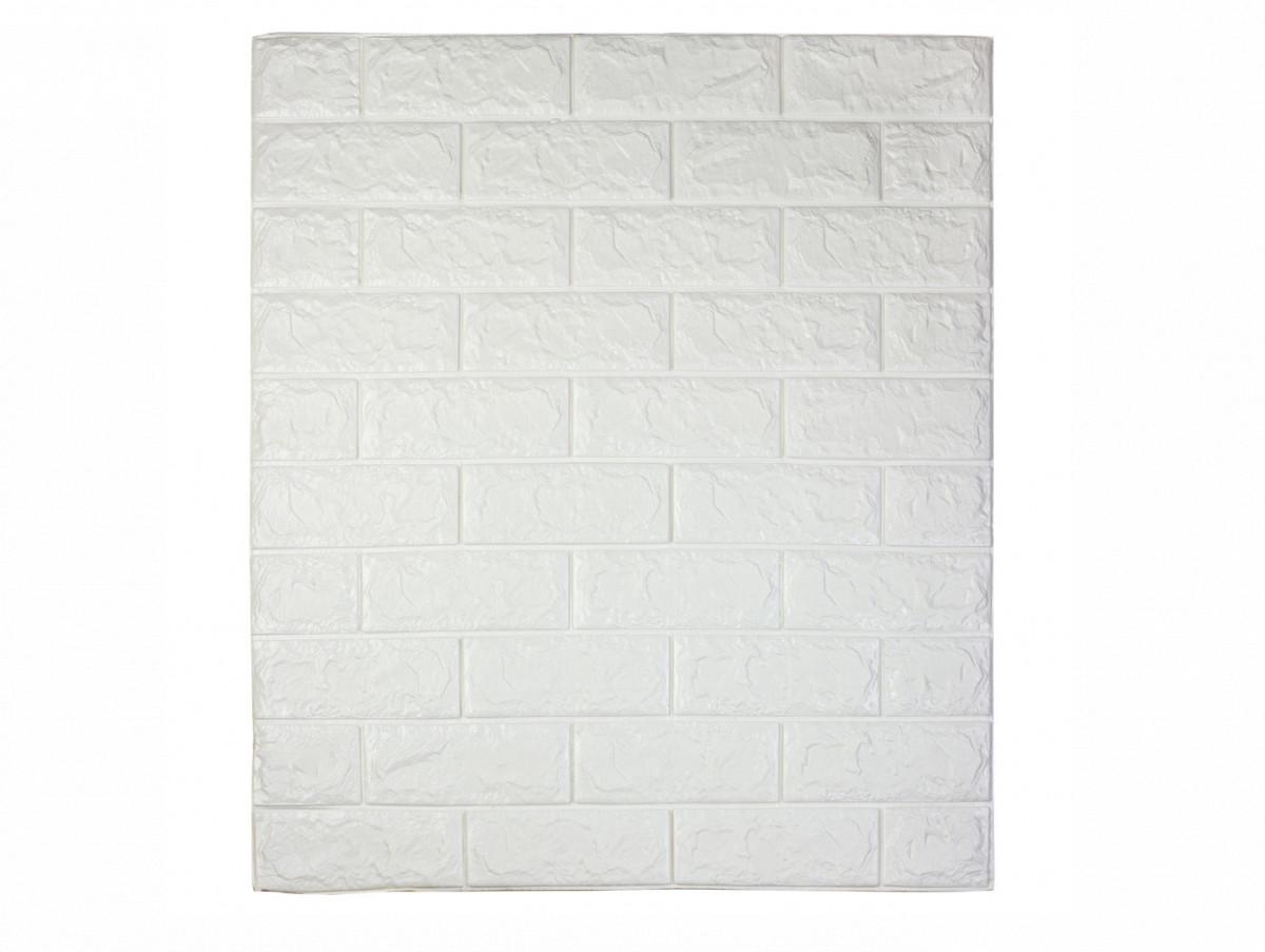 Самоклеющаяся декоративная 3D панель под белый кирпич 700*770*7мм