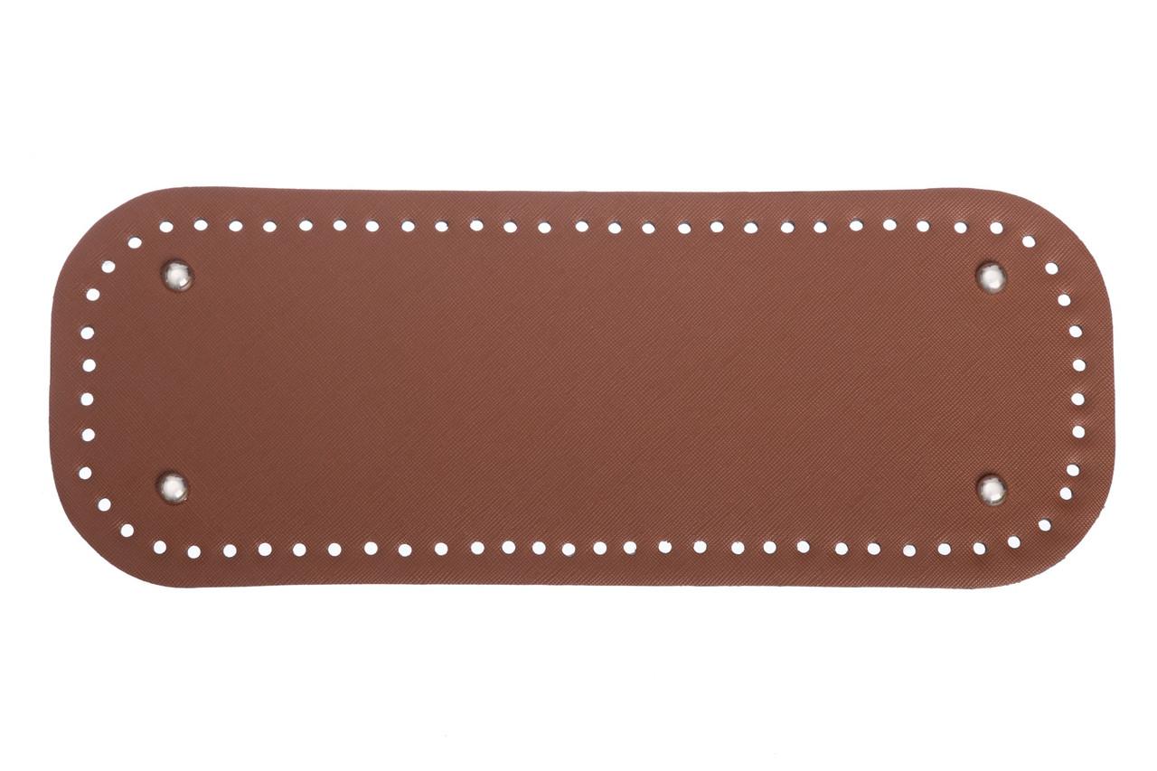 АКЦИЯ Донышко прямоугольное экокожа 12,5*33 см, Браун с ножками серебро
