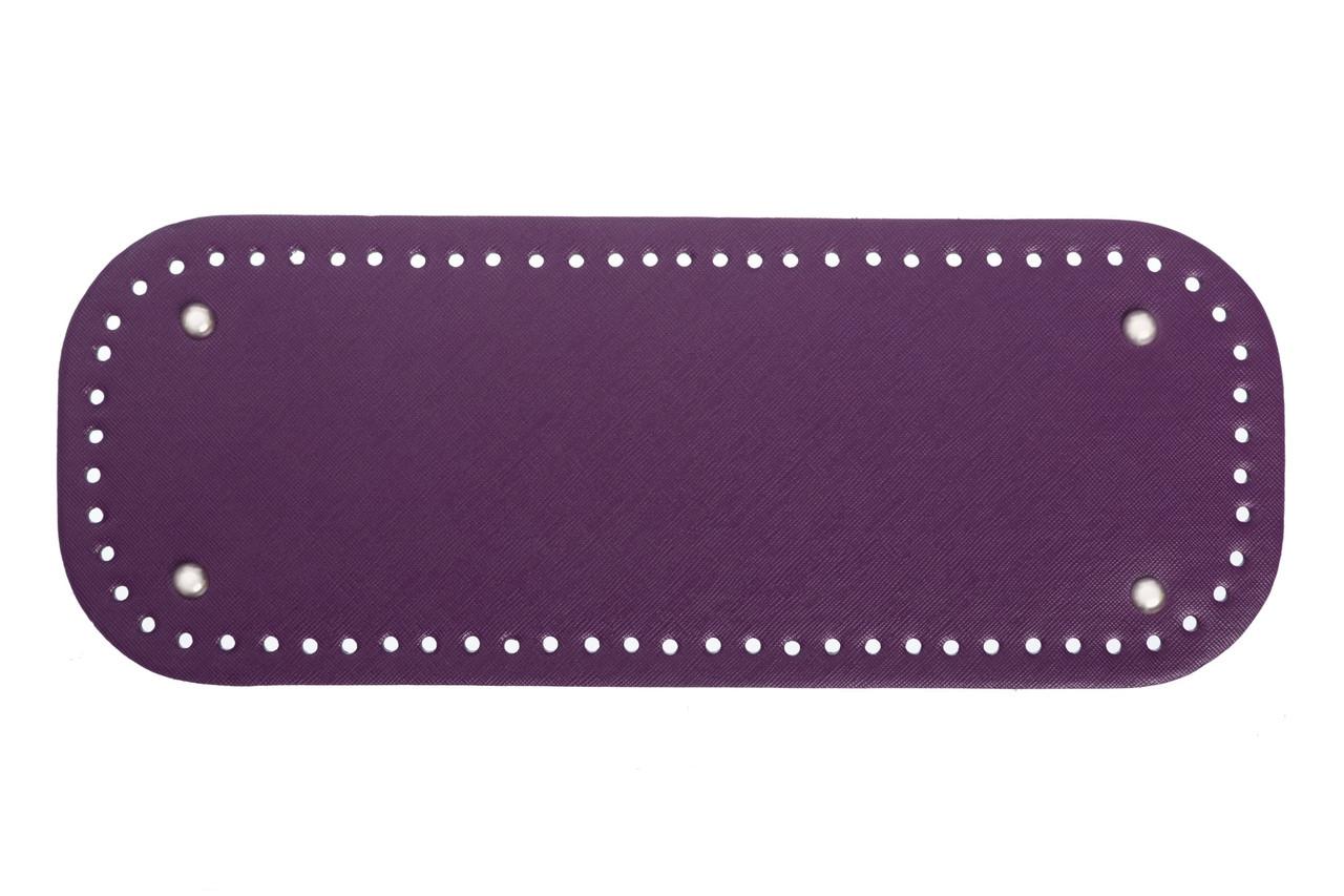 АКЦИЯ Донышко прямоугольное экокожа 12,5*33 см, Лиловое с ножками серебро