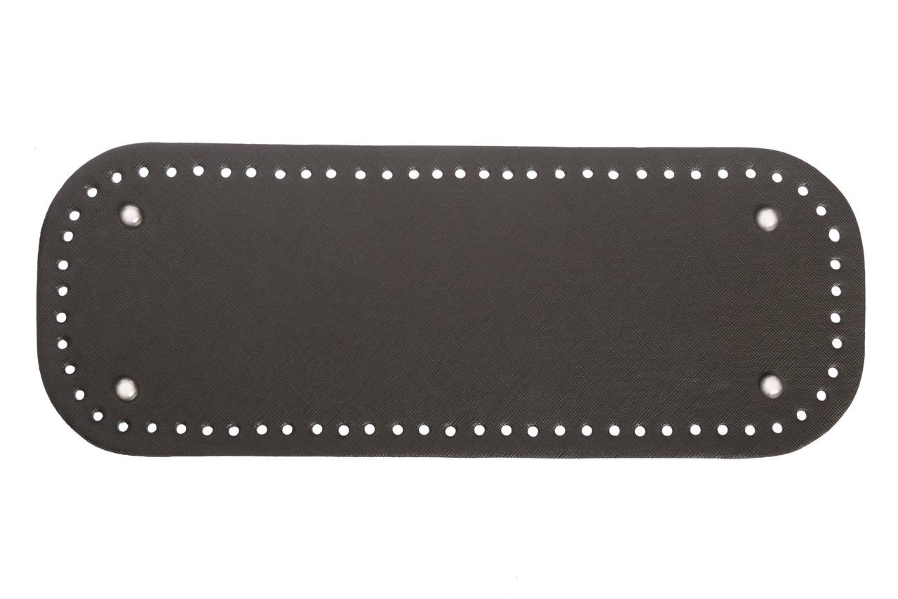 АКЦИЯ Донышко прямоугольное экокожа 12,5*33 см, Хаки с ножками серебро