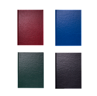 Книга канцелярская OFFICE, А4, 192 л., линия, офсет, твердая обложка с бумвинилом, ассорти (BM.2406)