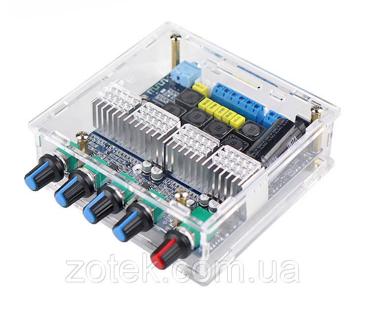 Підсилювач звуку в Корпусі GEMAUDIO TPA3116D2 Bluetooth v5.0 50Вт*2 + 100Вт 2.1 DC 12-24В MBT311621