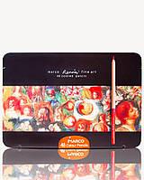 Цветные карандаши Marco FineART-48TN 48 цветов в металлическом пенале