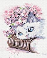 "Картина по номерам, Brushme ""Нежный котик"" G481"