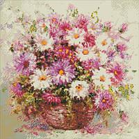 """Алмазная мозаика, """"Натюрморт с цветами""""  40*40см AM5002"""