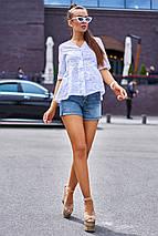 Натуральная легкая свободная блуза из прошвы (Кани jd), фото 3