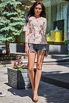 Натуральная легкая свободная блуза из прошвы (Кани jd), фото 2