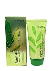 Увлажняющий солнцезащитный крем с семенами зеленого чая FarmStay Green Tea Seed Moisture sun cream