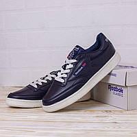 Кроссы Reebok Classic мужские синие с белой подошвой. Обувь Рибок Классик. Мужские демисезонные кроссовки