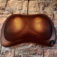 Улучшенная роликовая подушка для массажа с подогревом для шеи, тела Massage Pillow Car and Home Original