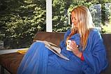 Плед с рукавами Snuggie синий, фото 4