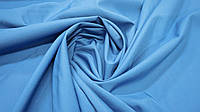 Ткань футер двунитка однотонная голубой цвет