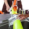 Овощерезка мультислайсер Tabletop Drum Grater Kitchen Master - Ручная терка шинковка для овощей и фруктов, фото 6
